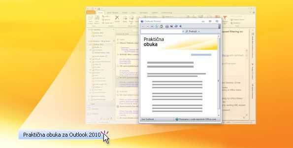 Praktična obuka za Outlook 2010