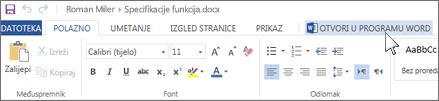 Otvaranje cjelovite aplikacije sustava Office umjesto rada u web-aplikaciji Office Online