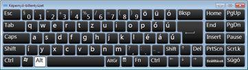Képernyő-billentyűzet orosz cirill karakterekkel