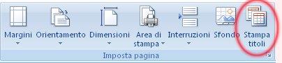 Immagine della barra multifunzione di Excel