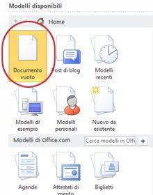 Documento vuoto