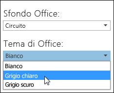 Scegliere un tema di Office diverso