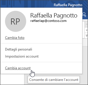 Cambia account