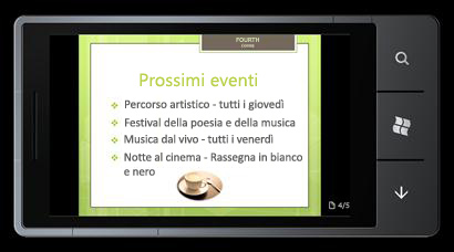 PowerPoint Mobile 2010 per Windows Phone 7: modificare e visualizzare dal telefono
