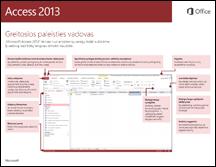 """""""Access 2013"""" greito pasirengimo darbui vadovas"""
