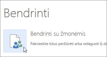 """""""Word Online"""" mygtukas Bendrinti su žmonėmis"""