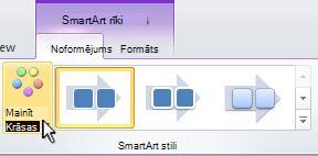 Mainiet savas SmartArt grafikas krāsu.