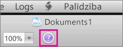 Noklikšķiniet uz jautājuma zīmes, lai sistēmā Mac Office atvērtu palīdzību