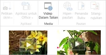 Video dalam talian dalam dokumen Word