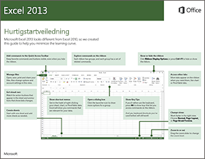 Hurtigstartveiledning for Excel 2013