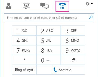 Numerisk tastatur i Lync
