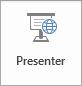 Knappen Presenter på nettet