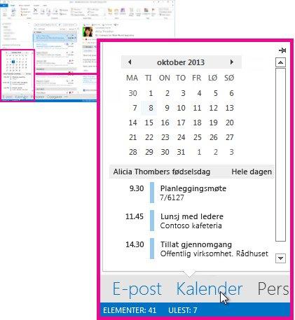 Kalenderoversikt