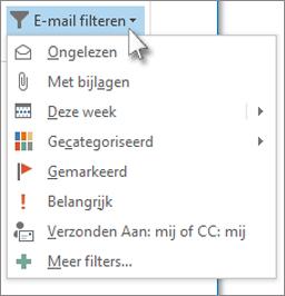 E-mail filteren