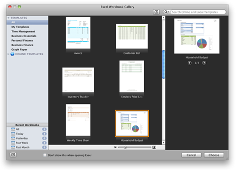 Excel-werkmapgalerie