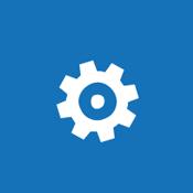 Tegelafbeelding van een tandwiel dat het concept van het configureren van globale instellingen voor een SharePoint Online-omgeving voorstelt.