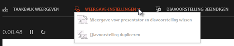 Weergave-instellingen in weergave Presentator