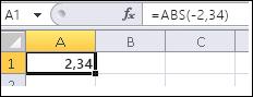 A fórmula é mostrada na barra de fórmula