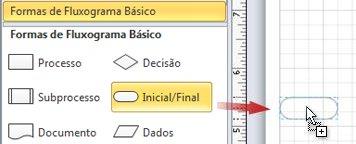 Arrastar uma forma Inicial/Final até a página