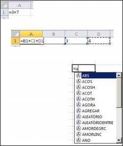 Criar fórmulas de maneiras diferentes