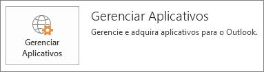 Gerenciar aplicativos do Outlook