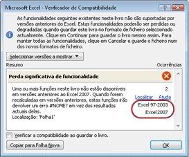 Verificador de Compatibilidade com versões realçadas