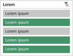 Segmentação de dados da tabela