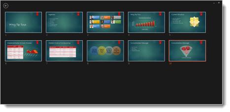 Mostrar todos os diapositivos na minha apresentação