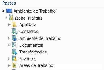 As áreas de trabalho do SharePoint Workspace 2010 aparecem nesta pasta no sistema de ficheiros