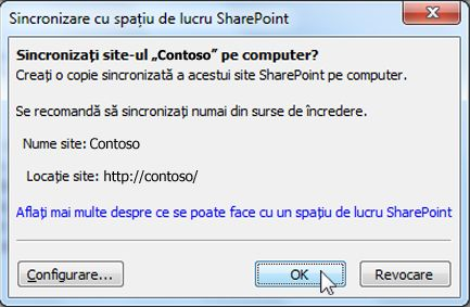 Caseta de dialog Sincronizare la computer