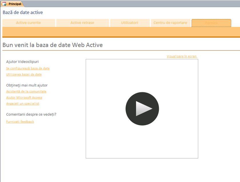 Baza de date Web Active
