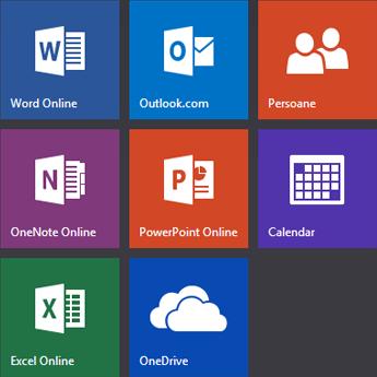 Ecranul de start Office.com