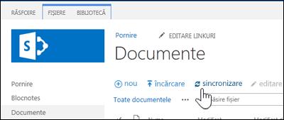 Sincronizarea unei biblioteci de site