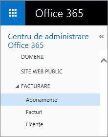 Link către pagina Abonamente în Office 365 Premium pentru firme mici.