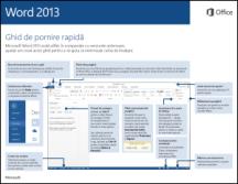 Ghidul de pornire rapidă Word 2013