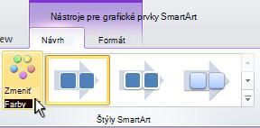 Zmena farby obrázka SmartArt.