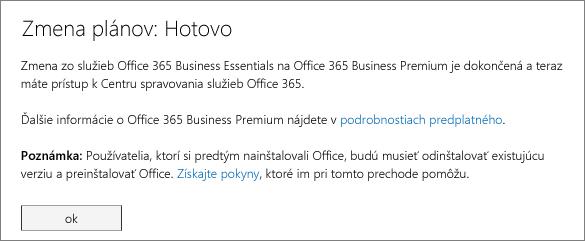Zoznam produktov a služieb na prihlasovacej stránke služieb Office 365.