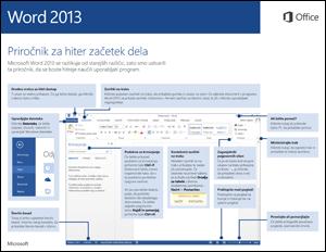 Priročnik za hiter začetek dela za Word 2013