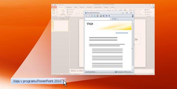 Vaja v programu PowerPoint 2010
