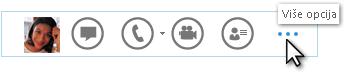 """Snimak menija """"Brzi Lync"""" koji prikazuje stavku """"Više opcija"""""""