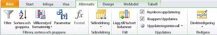Öppen webbplats i SharePoint Designer 2010.
