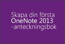 Skapa din första OneNote 2013-anteckningsbok