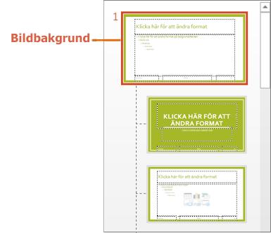 Bildbakgrund med layouter