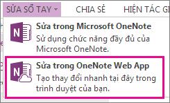 Sửa Sổ ghi chép trong OneNote Online